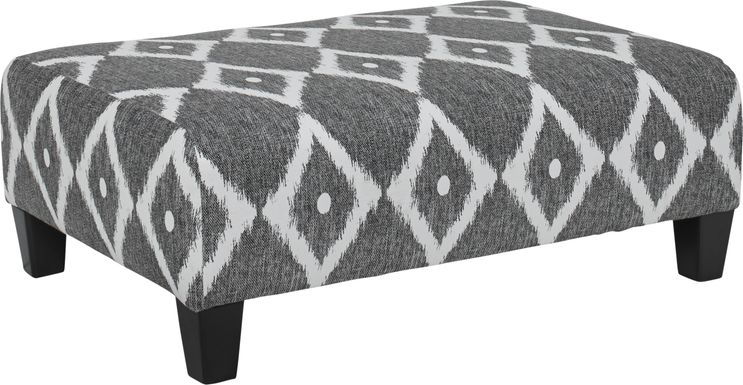 Carole Court Gray Cocktail Ottoman