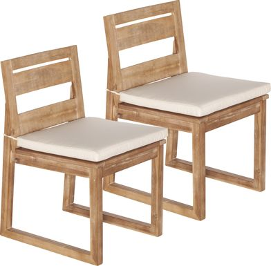 Carolewood Ivory Outdoor Dining Chair, Set of 2
