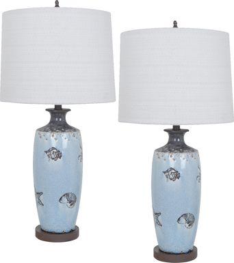 Carrbridge Blue Lamp, Set of 2