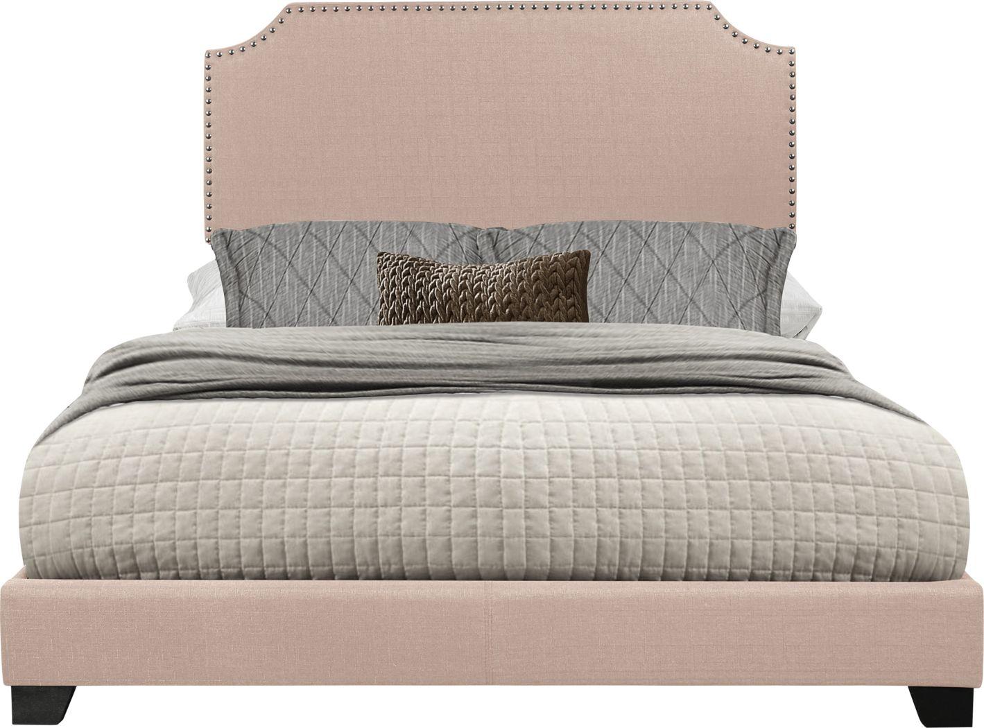 Carshalton Beige Queen Upholstered Bed