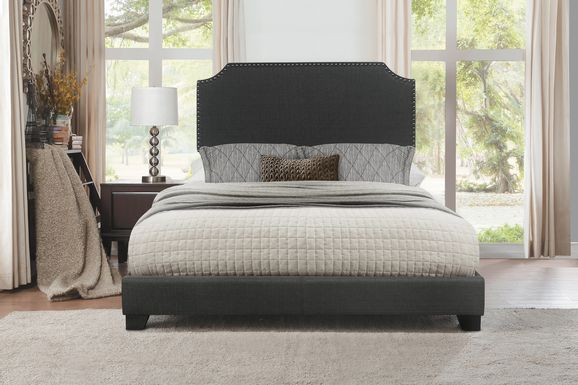Carshalton Dark Gray King Upholstered Bed