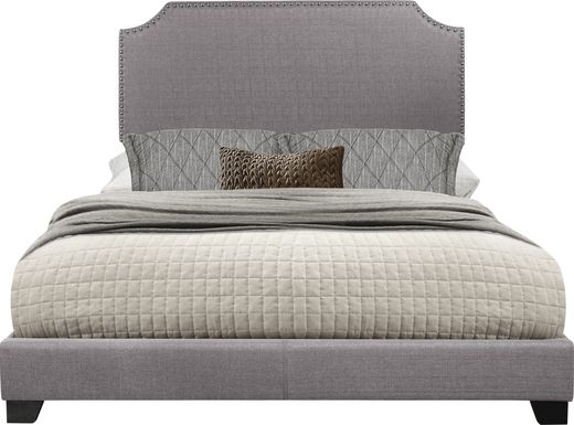 Carshalton Gray King Upholstered Bed