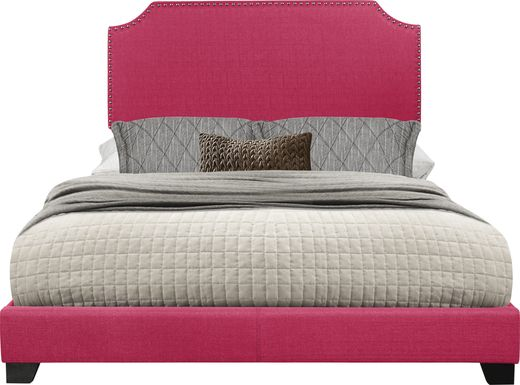 Carshalton Pink King Upholstered Bed