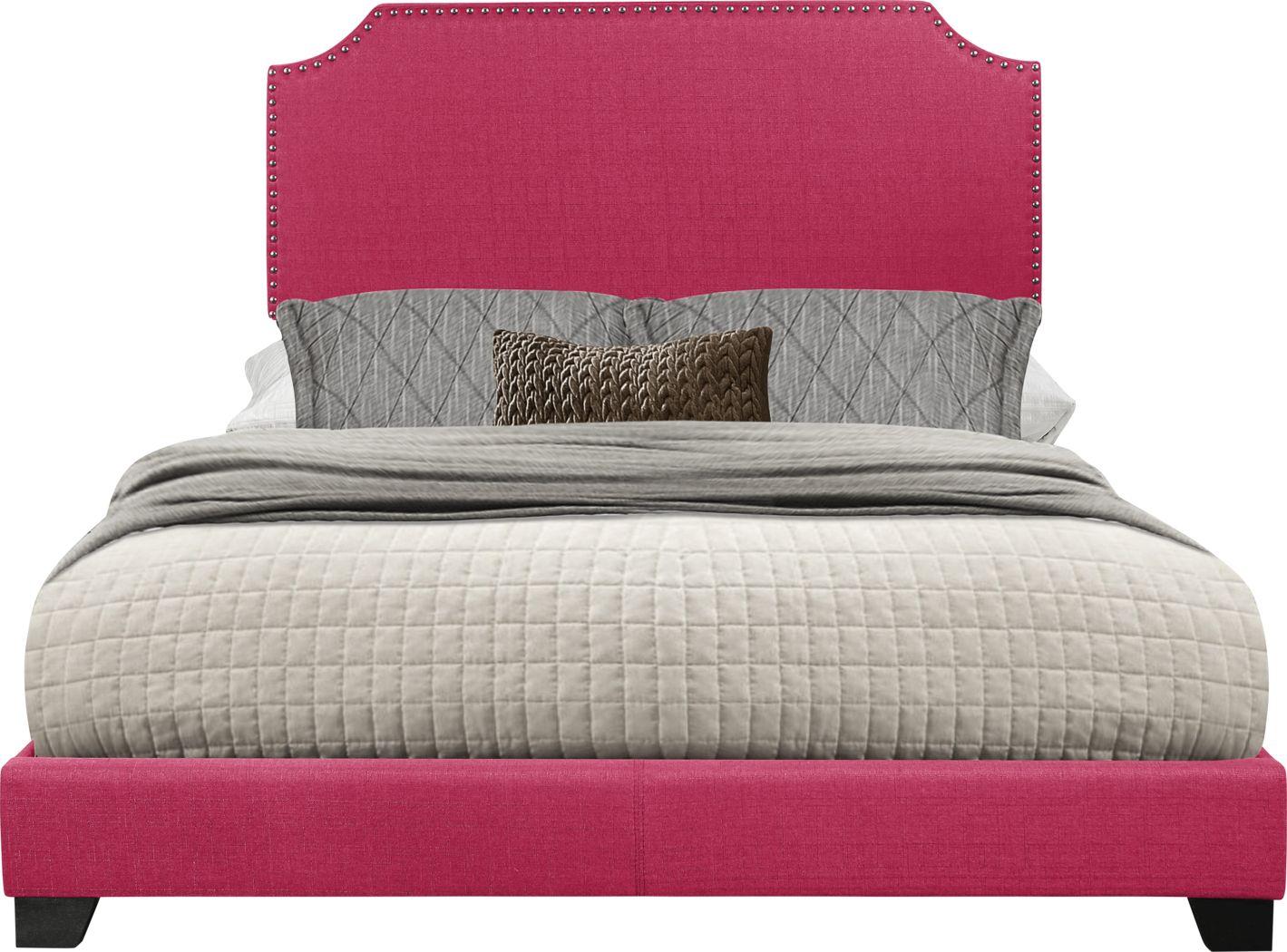 Carshalton Pink King Upholstered Bed