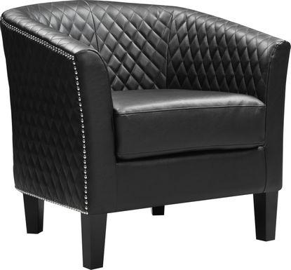 Casino Drive Black Accent Chair