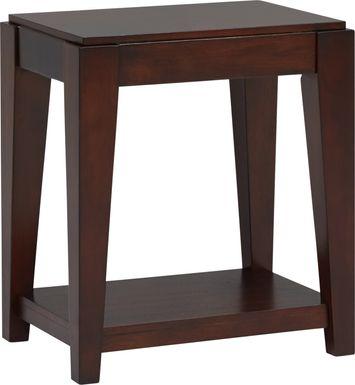 Cassara Cherry Chairside Table