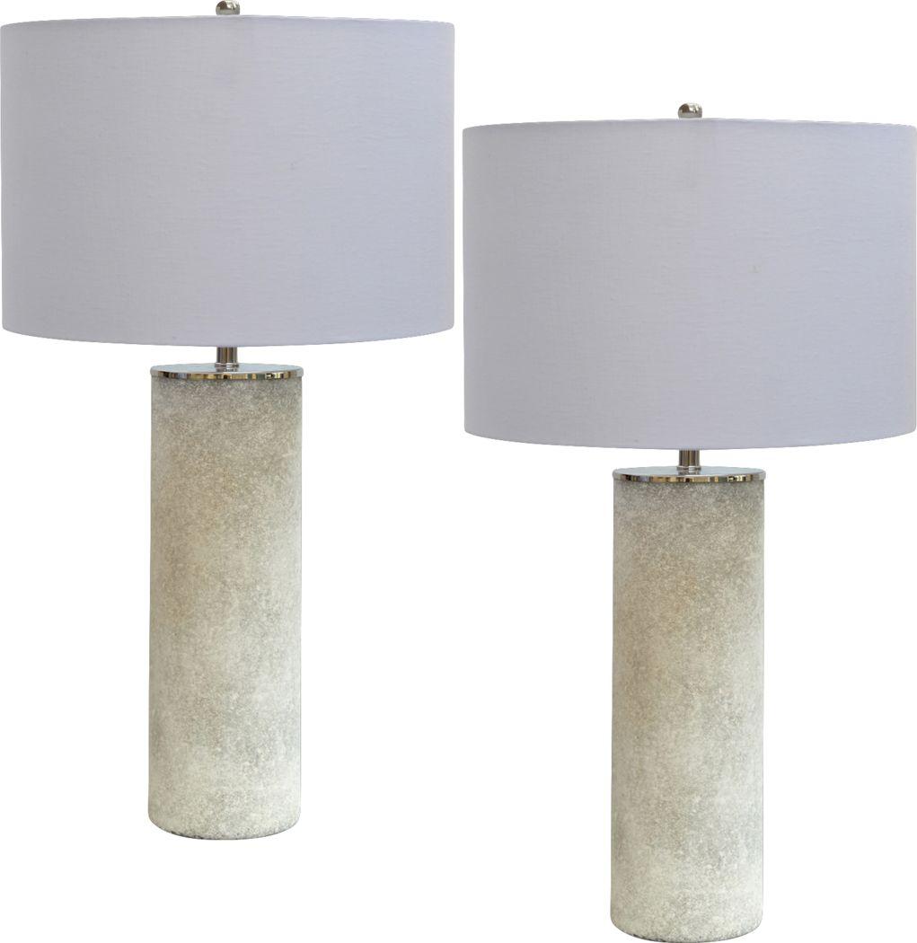 Castle Douglas White Lamp, Set of 2