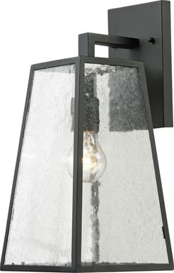 Castlereagh Black Large Outdoor Wall Sconce