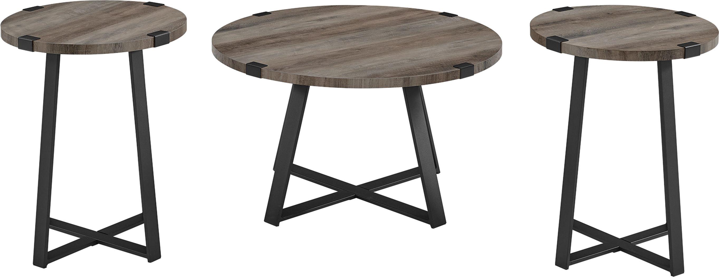 Castletroy Dark Gray Cocktail Table Set