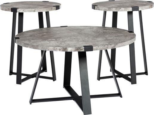 Castletroy Gray Cocktail Table Set