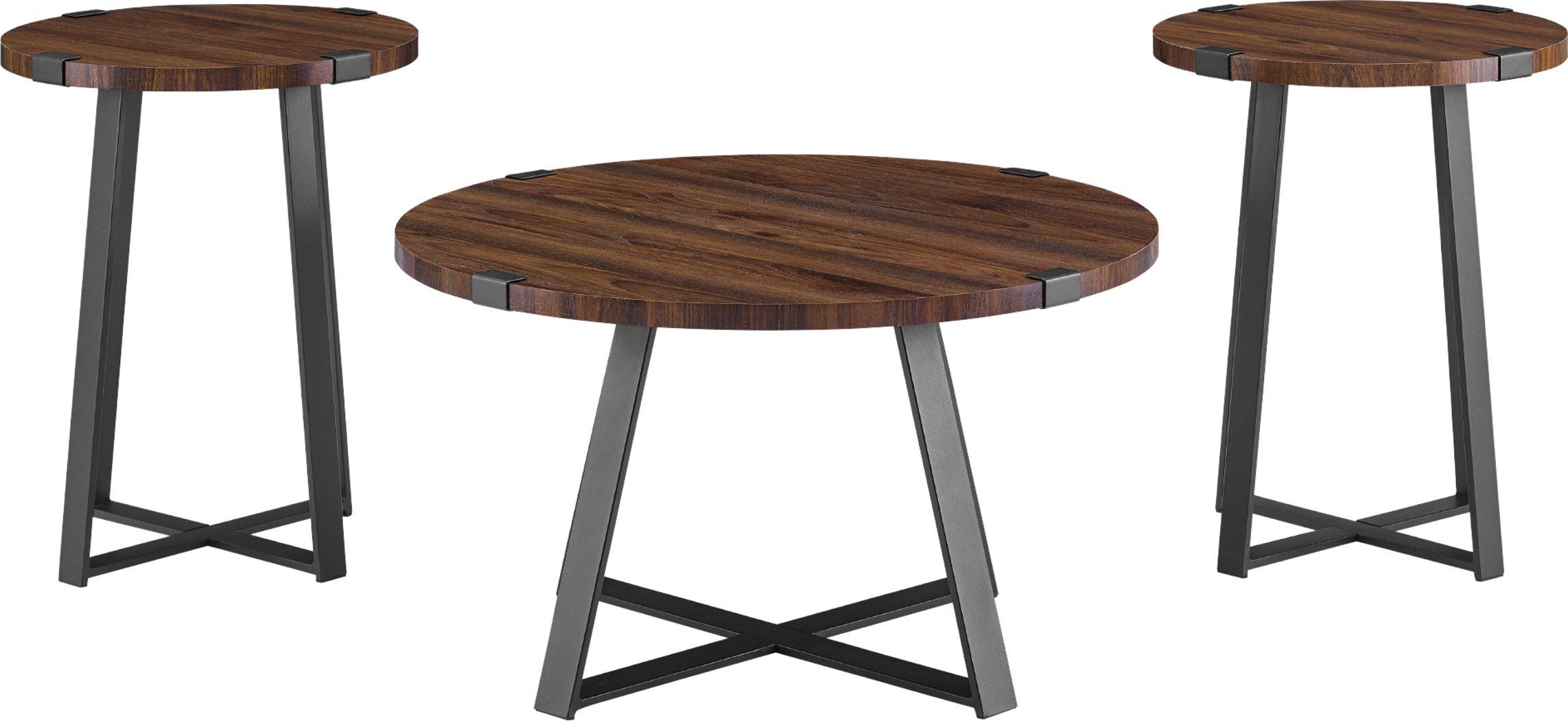 Castletroy Walnut Cocktail Table Set