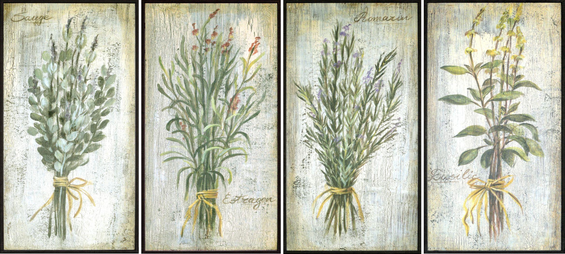 Casual Herbs Set of 4 Artwork