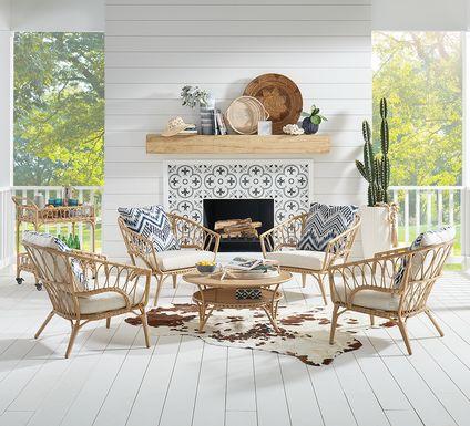 Catalina Natural 5 Pc Outdoor Chat Seating Set