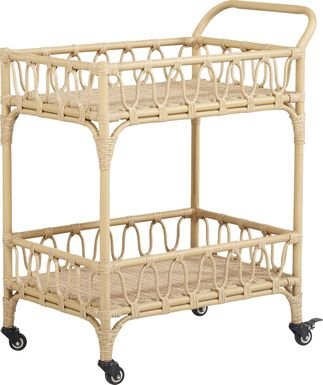 Catalina Natural Outdoor Bar Cart