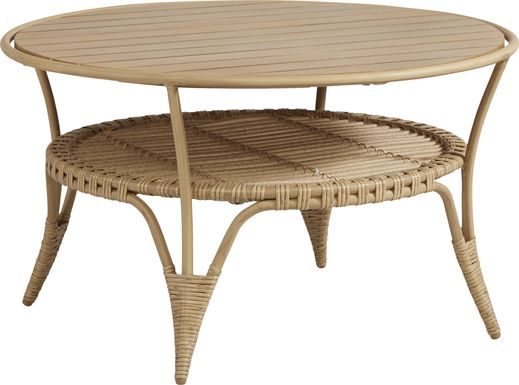 Catalina Natural Outdoor Cocktail Table