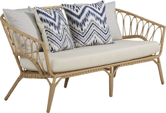 Catalina Natural Outdoor Loveseat