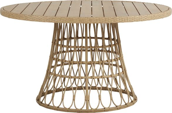 Catalina Natural 54 in. Round Outdoor Dining Table