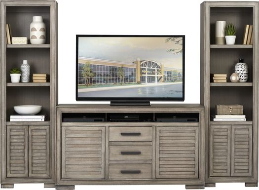 Cates Ridge Light Gray 3 Pc Wall Unit