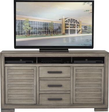 Cates Ridge Light Gray 62 in. Console