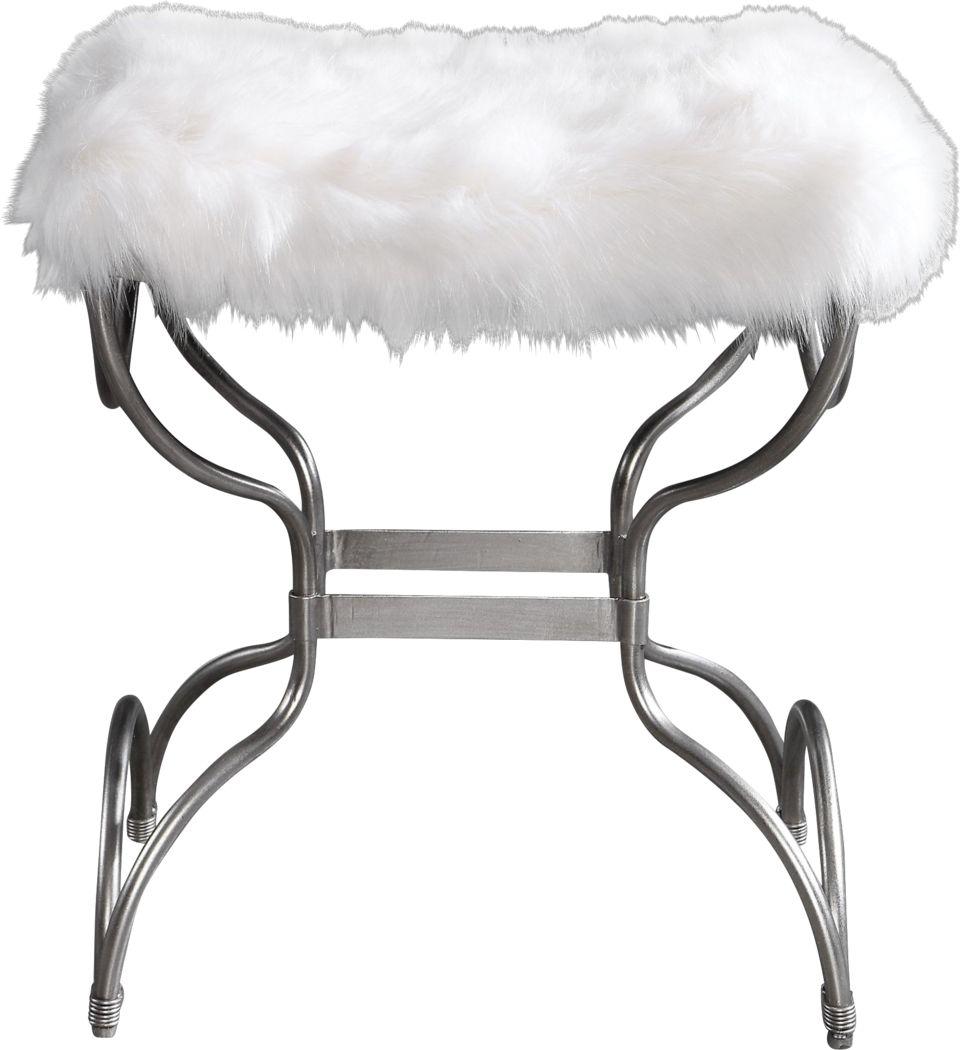 Catlett White Accent Bench