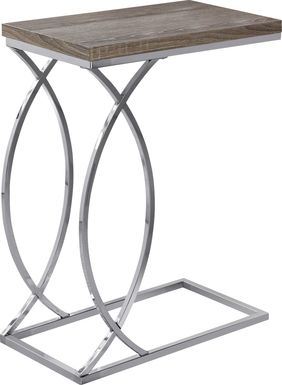 Cauley Taupe Accent Table