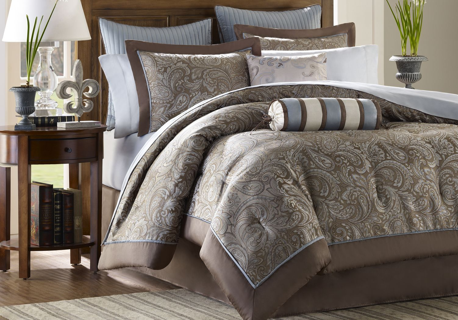 Cayla Brown 12 Pc King Comforter Set