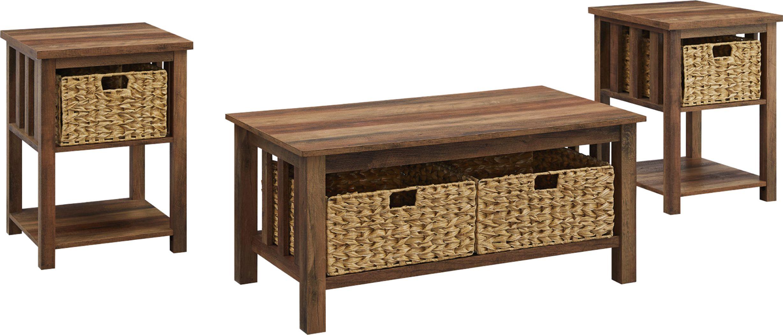 Cayuse Barnwood Cocktail Table Set