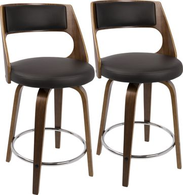Cecina Brown Counter Height Stool (Set of 2)