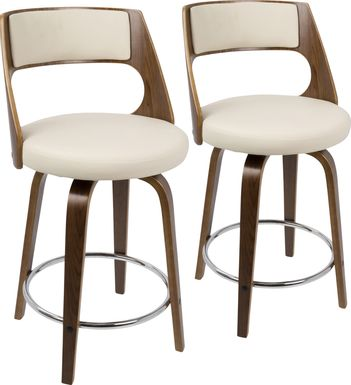Cecina Cream Counter Height Stool (Set of 2)