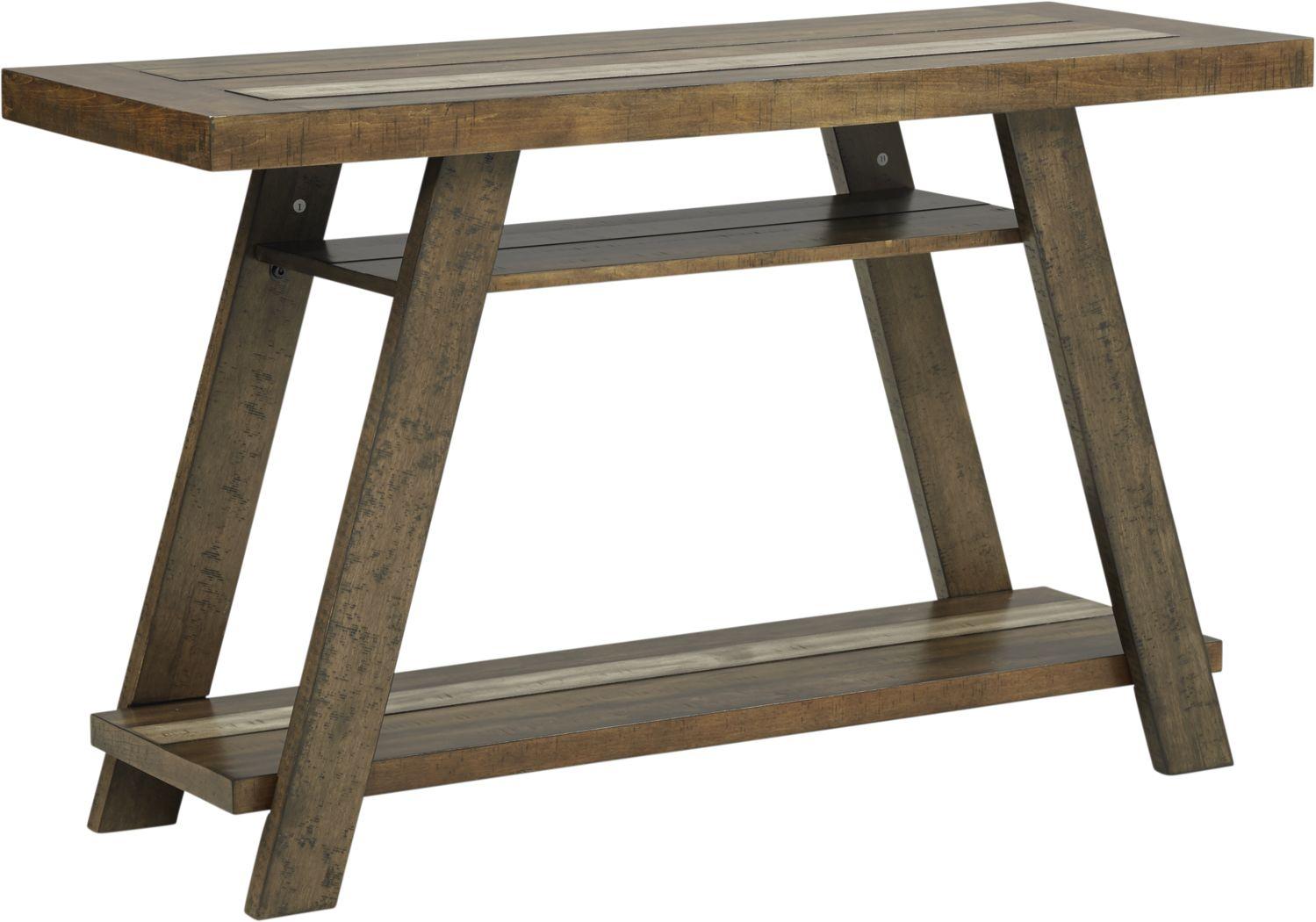 Cedar Creek Brown Sofa Table