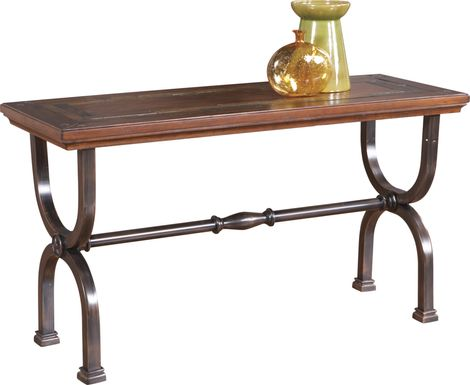 Cedar Grove Brown Sofa Table