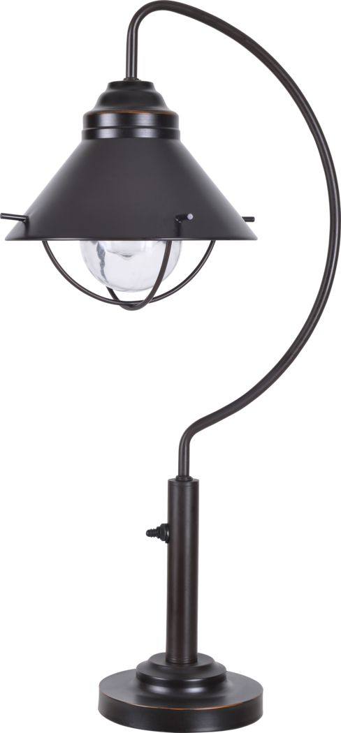 Cedar Island Brown Outdoor Table Lamp