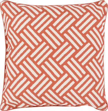 Celisa Orange Indoor/Outdoor Accent Pillow