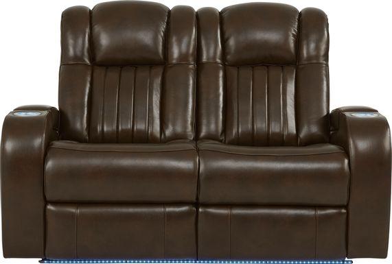 Cenova Brown Leather Loveseat