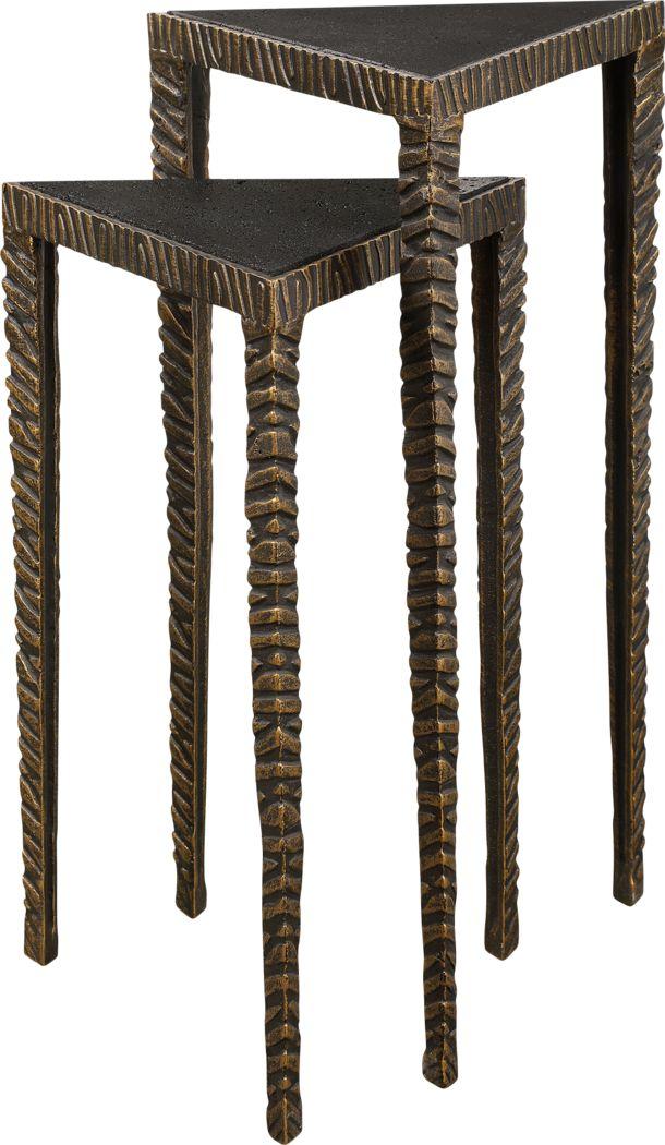 Centerset Bronze Nesting Table, Set of 2