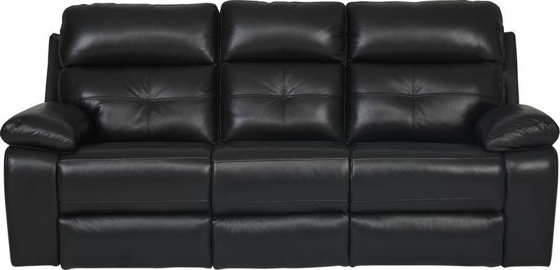 Cepano Black Leather Reclining Sofa