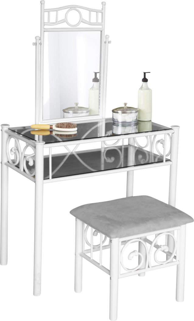 Cermark White Vanity Set