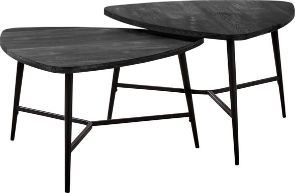 Cevallos Black Nesting Cocktail Table, Set of 2