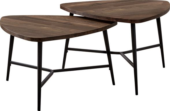 Cevallos Brown Nesting Cocktail Table, Set of 2
