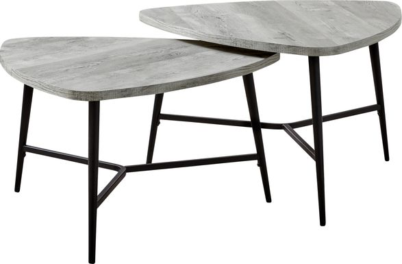 Cevallos Gray Nesting Cocktail Table, Set of 2