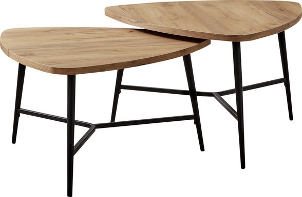 Cevallos Tan Nesting Cocktail Table, Set of 2