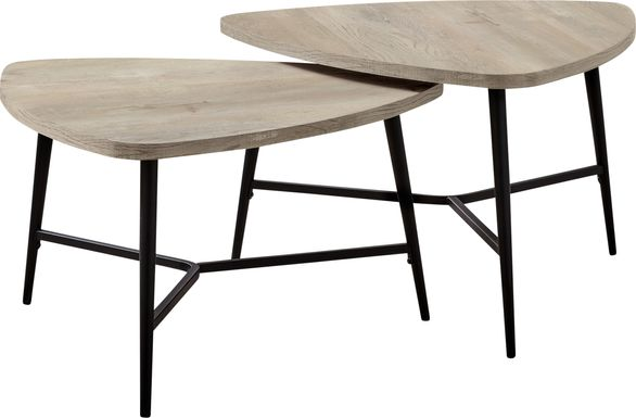 Cevallos Taupe Nesting Cocktail Table, Set of 2