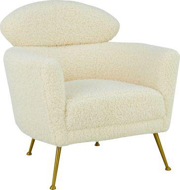 Chanceux Beige Accent Chair