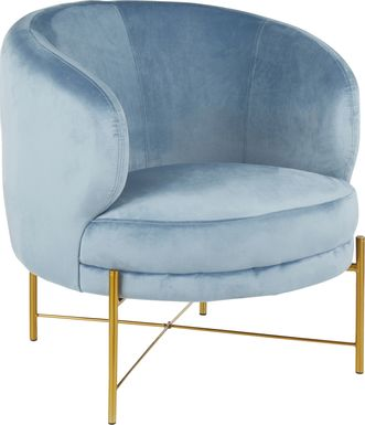 Chardan Blue Accent Chair