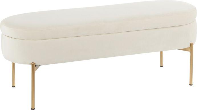 Chardan Cream Storage Bench