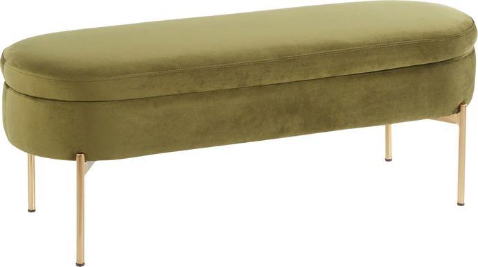 Chardan Green Storage Bench