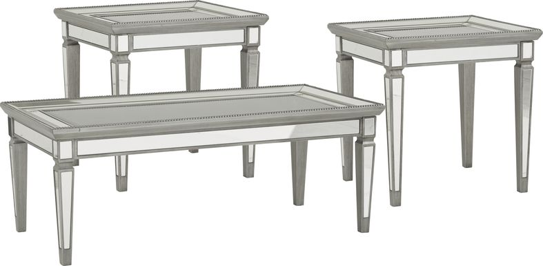 Charlaine Silver 3 Pc Table Set