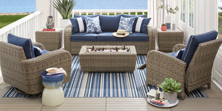 Charlotte Harbor Gray 6 Pc Outdoor Seating Set
