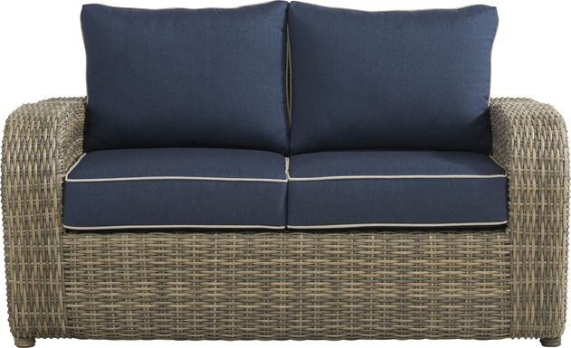 Charlotte Harbor Gray Outdoor Loveseat