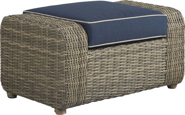 Charlotte Harbor Gray Outdoor Ottoman